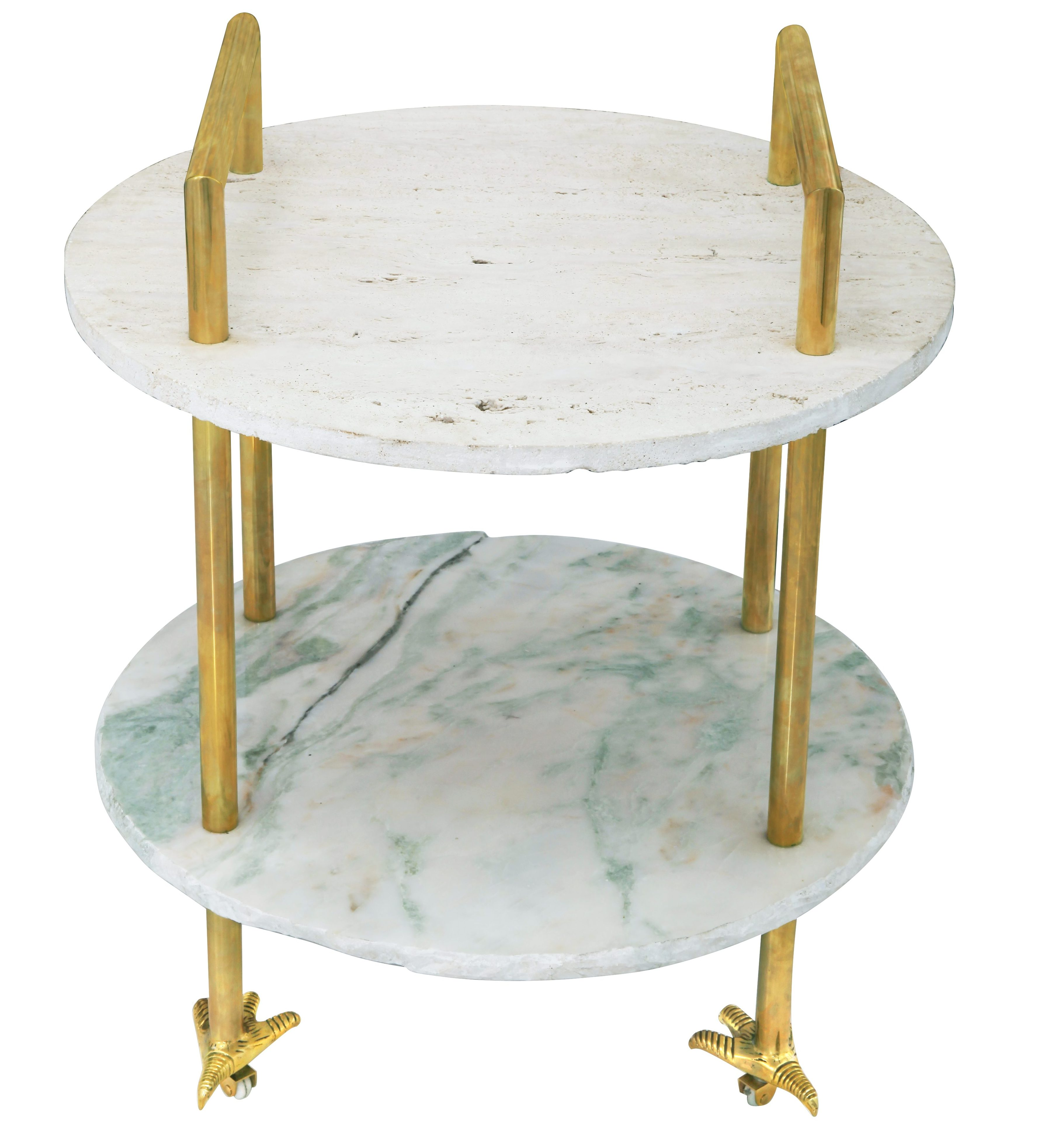 Aurum Home - Claw Cart Table