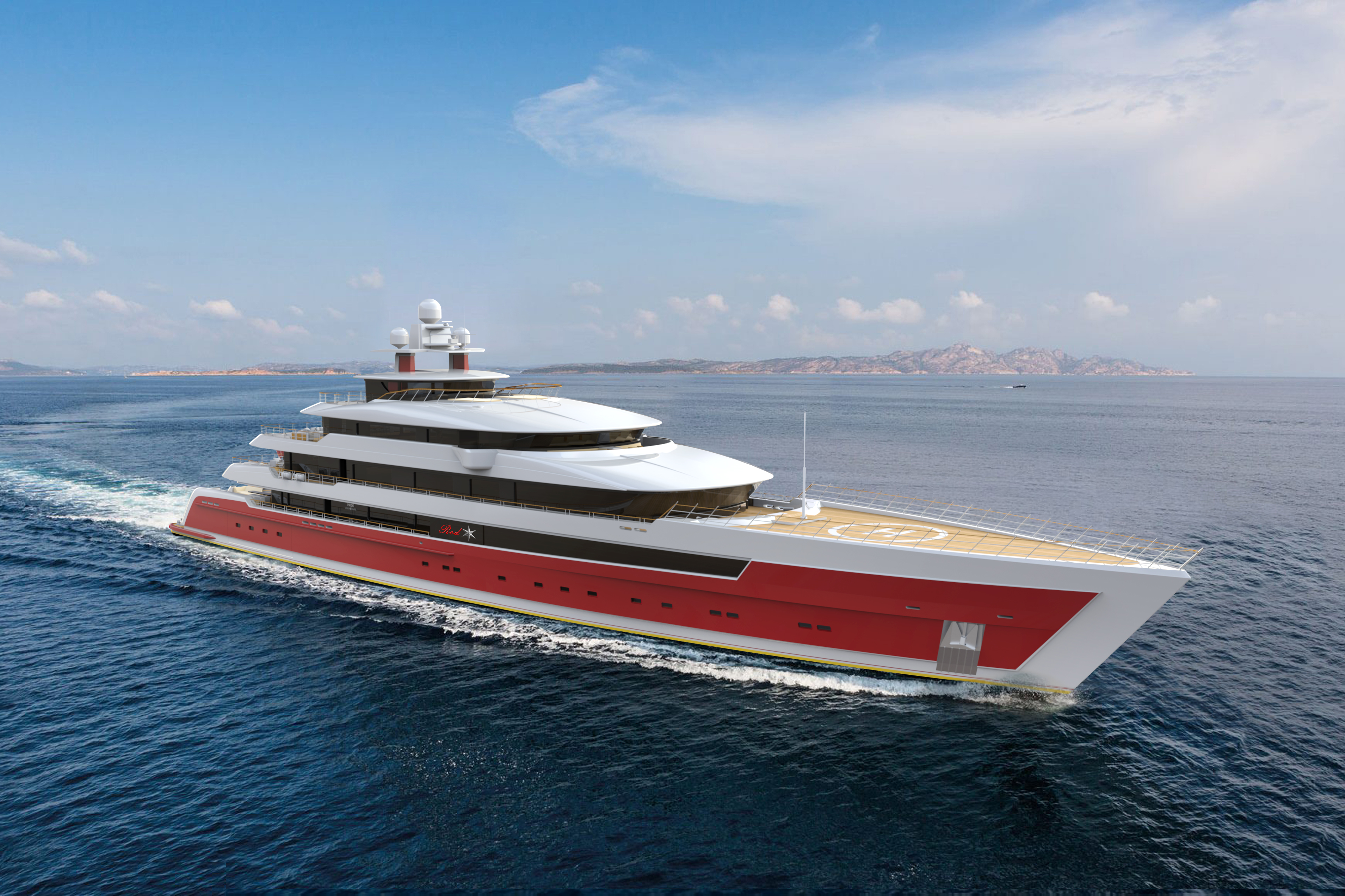 Pride Mega Yachts - Project Red Star