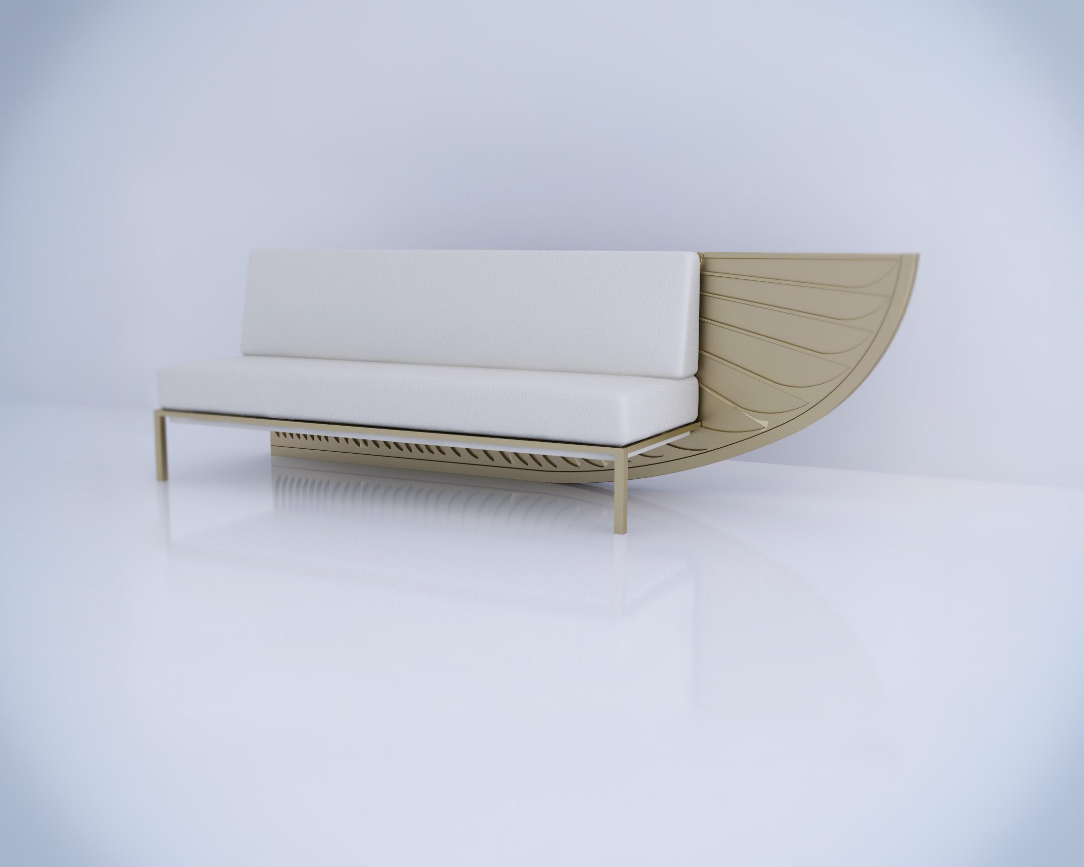 Shosha Kamal - Wing Sofa White